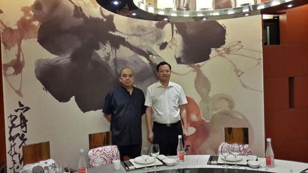 福建省政府办公室陈主任在98厦门投资洽谈会拜访许少锋
