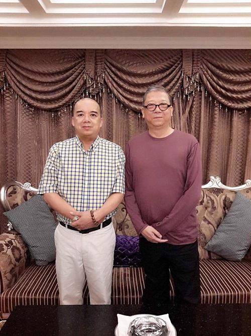 菲律宾白龙王许少锋与著名编剧文学家陈文贵老师亲切会晤